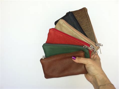 Mini Cosmetic Pouch small leather pouch mini cosmetic bag multicolor leather