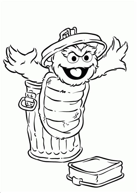 Oscar The Grouch Coloring Page With Regard To Motivate To Oscar The Grouch Coloring Pages
