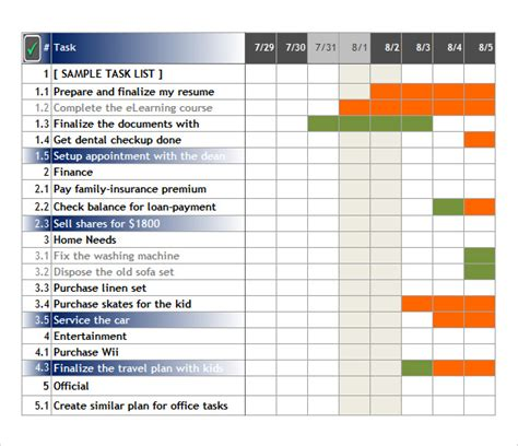 Excel Task Tracker Template sle task tracking 6 documents in pdf word excel