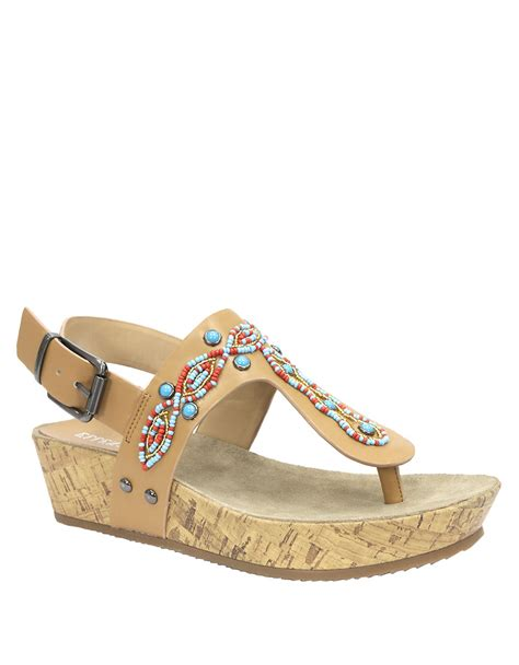 tracy sandals tracy islander wedge sandals in lyst