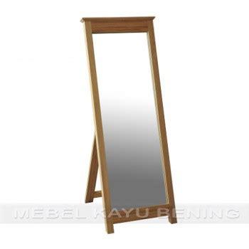 Cermin Tebal 5 Mm cermin pigura kaca kayu jati minimalis crown