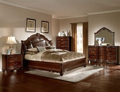 bed set homelegance hstead court bedroom set cherry b2214 bed set homelegancefurnitureonline
