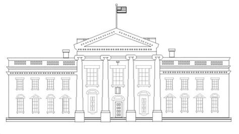 white house coloring page printable white house coloring page supercoloring com