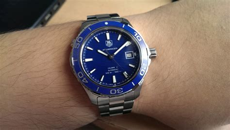[SOLD] TAG Heuer Aquaracer 500M Calibre 5 Blue Ceramic Bezel 41mm ? WAK2111.BA0830 ? MuS Watch
