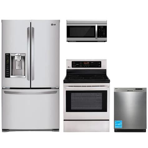 complete kitchen appliance packages lg stainless steel complete kitchen package lfx25974st