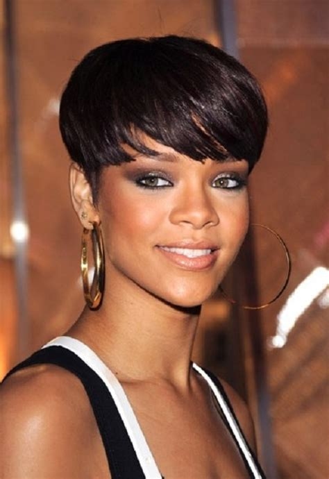 beautiful black women short hairstyle with sideburns gallery best short haircut with full bangs african american hair