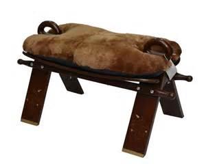 camel seat wooden stool