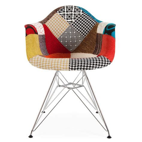 patchwork chairs chair retro modernist upholstered armchair by ciel notonthehighstreet com
