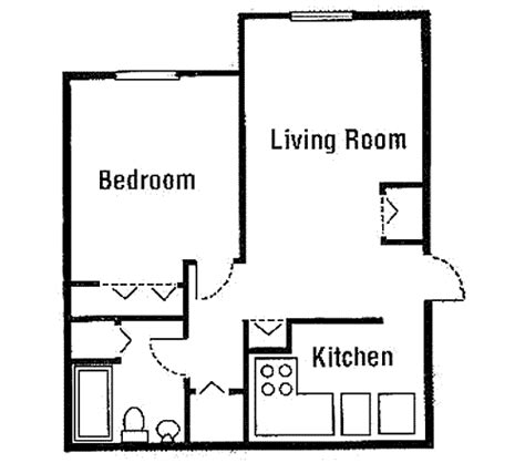 One bedroom house plans for hall kitchen bedroom ceiling floor