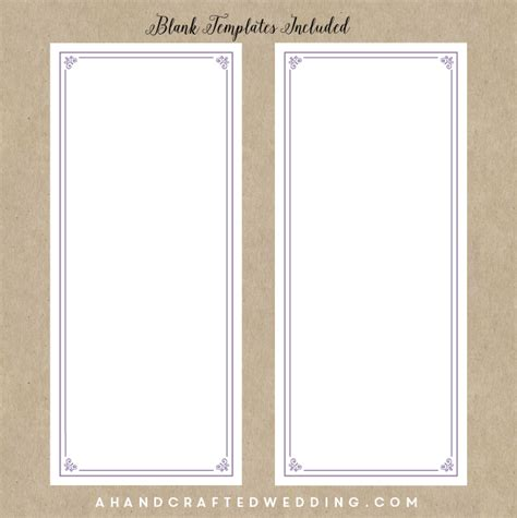 blank program template 29 images of blank wedding menu template free infovia net