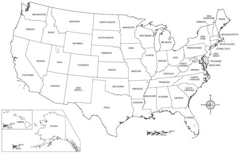 map of usa with states marked united states map blank free usa map thempfa org