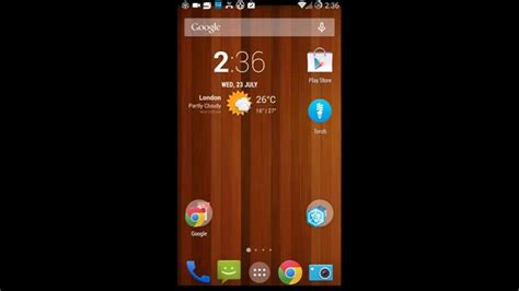 oneplus one how to remove search bar from home