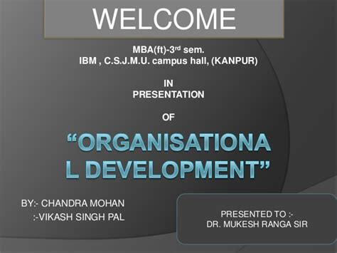 Mba Organizational Development by The Concept Of Organizational Development Word Document Docx 1