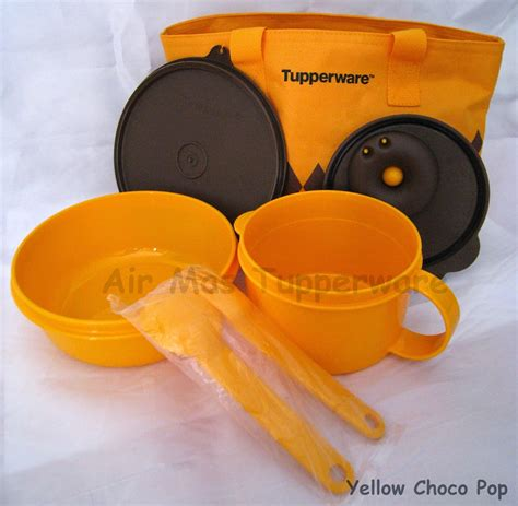 Yellow Choco Tupperware air tupperware collection yellow choco pop sold out