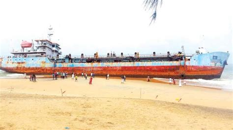 sand trapped ship   tourist attraction  kollam