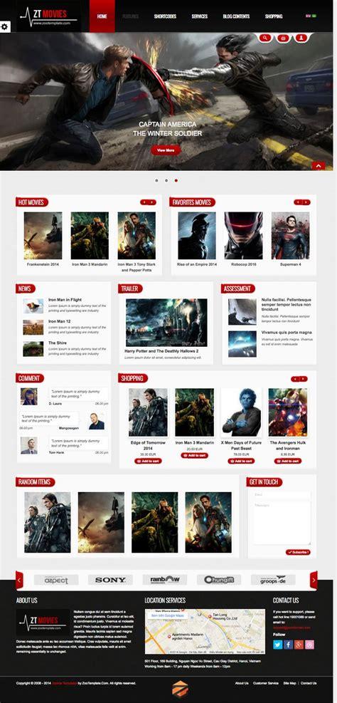 template joomla movie zt movie joomla template for film tv movie store or