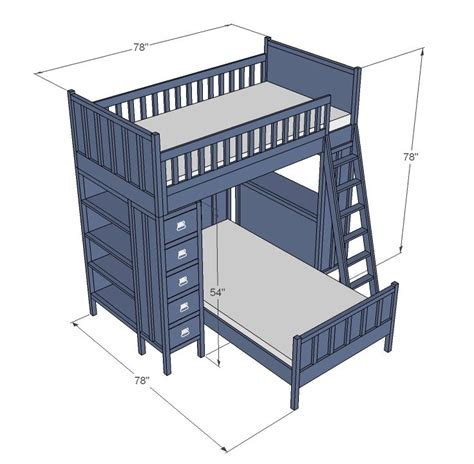 free wood loft bed plans woodworking projects plans