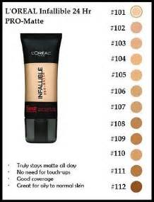l shades new l oreal infallible 24hr pro matte liquid foundation 1