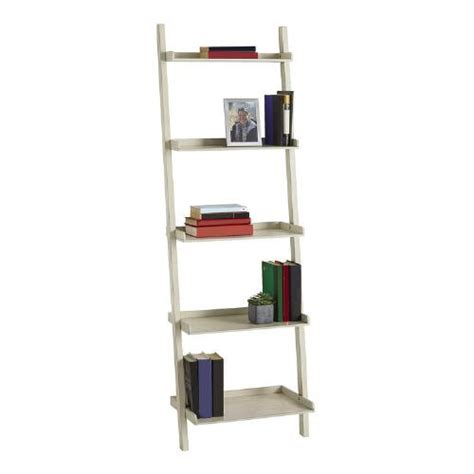white 5 tier ladder bookcase tree shops andthat