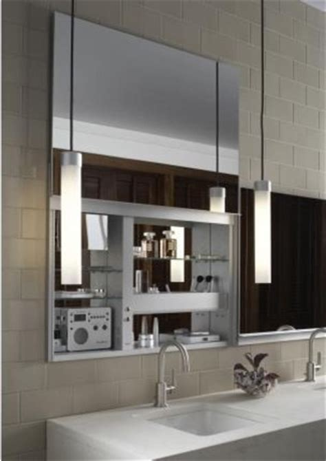 Modern Bathroom Mirror Cabinets Robern Uplift Mirrored Medicine Cabinet Modern Bathroom Mirrors Other Metro By Quality Bath