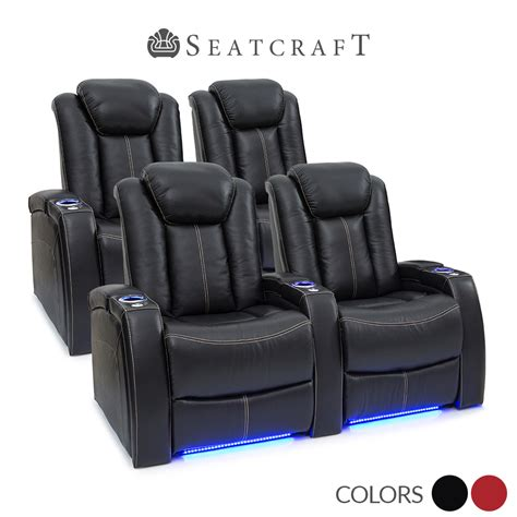 recline rows seatcraft delta leather home theater seating power