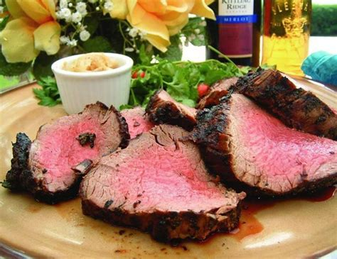 grilled whole beef tenderloin in fresh herbs crown verity