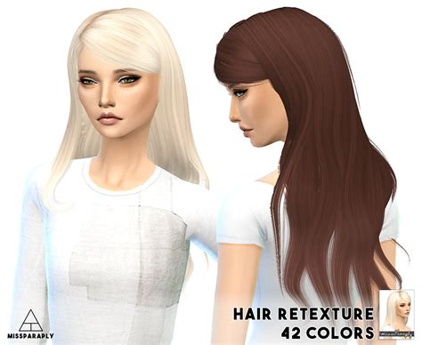 sims 4 cc hair retextures my sims 4 blog alesso hair retexture by missparaply
