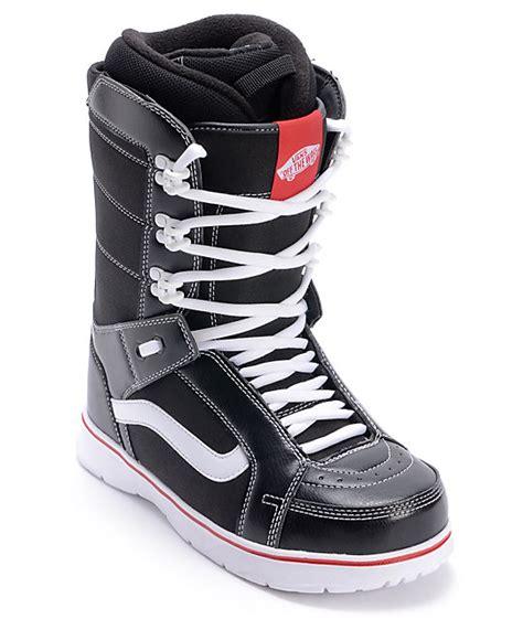vans hi standard black snowboard boots zumiez