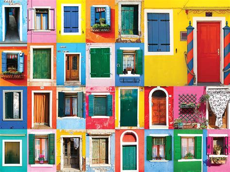 colorful doors jigsaw puzzle puzzlewarehouse com colorful doors jigsaw puzzle puzzlewarehouse com