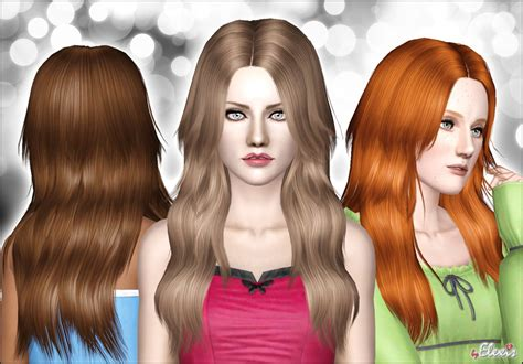 download wavy hair for sims 3 my sims 3 blog diamond rose long and wavy hair for