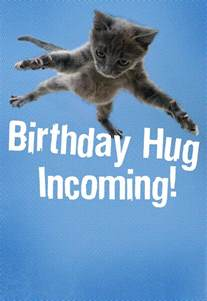 Ftd Send Flowers - flying cat hug birthday card greeting cards hallmark