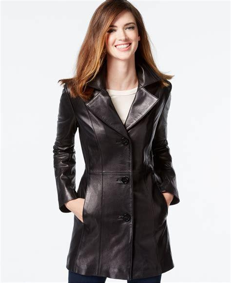 Vest Blazer Black klein leather blazer jacket in black lyst