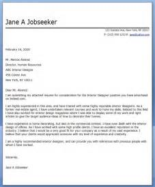 Cover Letter For Interior Designer by Interior Design Cover Letter Exles Resume Downloads