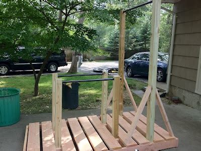 backyard pull up bar plans backyard pullup and dip bar system wood workout