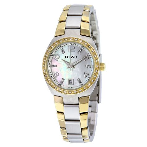 Fossil Am4183 fossil colleague of pearl two tone