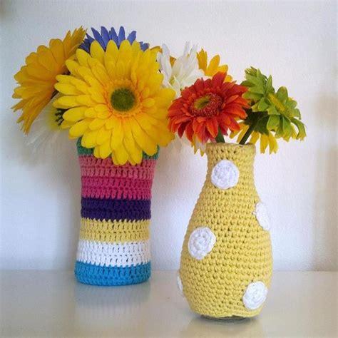 Crochet Flower Vase Pattern by 17 Best Ideas About Crochet Vase On Crochet