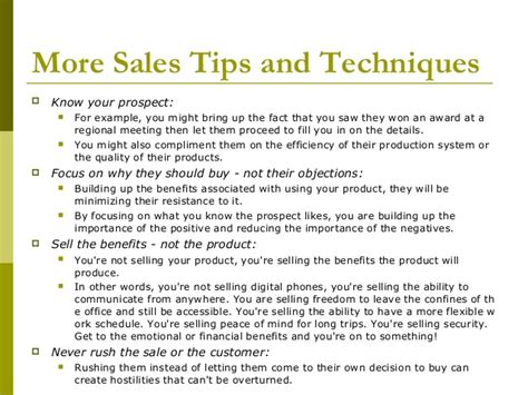 sales techniques marketing techniques selling techniques