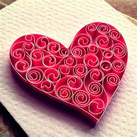 heart quilling pattern quilling heart crafts diy pinterest