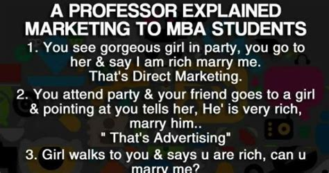 Mba Marketing Terms by A Professor Explained Marketing To Mba Students Meme