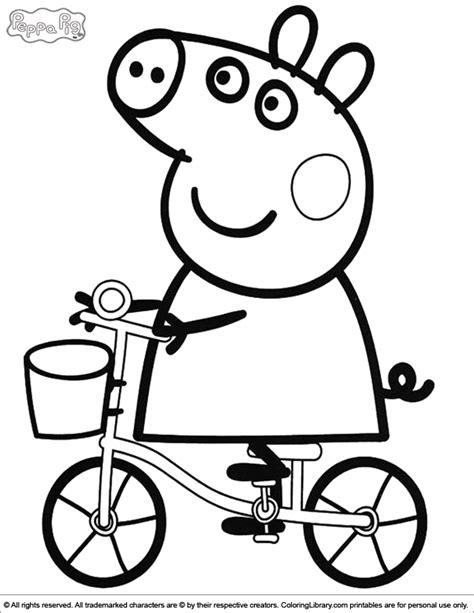 colouring pictures of peppa pig and george peppa pig coloring pages coloring home