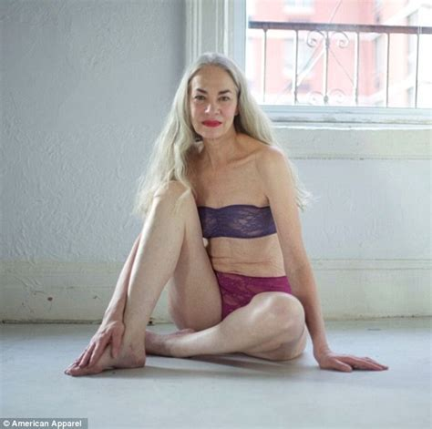 show picture of 62 year old woman american apparel uses 62 year old model to promote