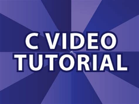 tutorial video youtube c video tutorial youtube