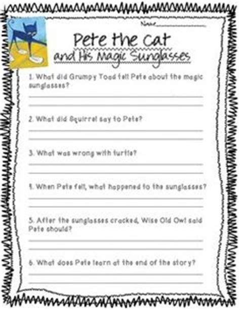 reading comprehension test online for cat comprehension questions pete the cats and comprehension