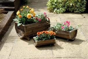 weatherproof 3 trough wooden garden planters set of 3