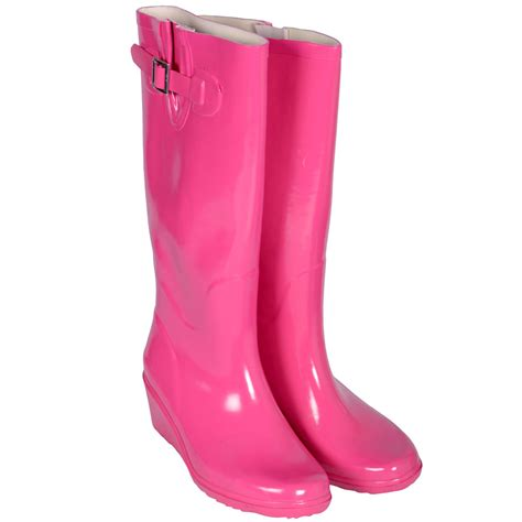 pink boots festival gloss pink wellies wellington boots size 4 ebay