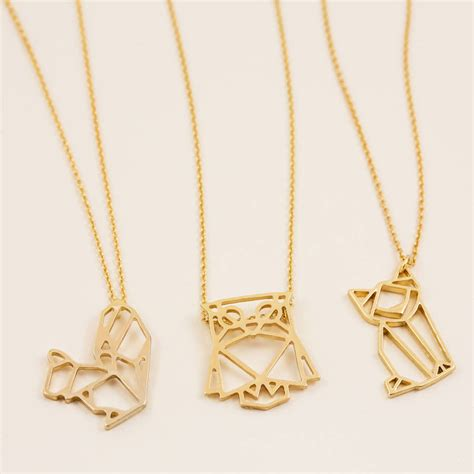 gold animal pendant necklace by j s jewellery