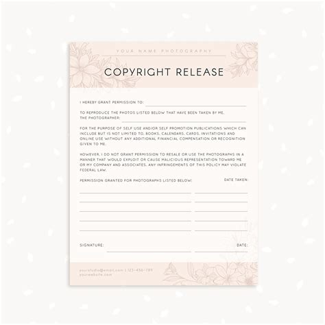 photo copyright release template copyright release form template strawberry kit