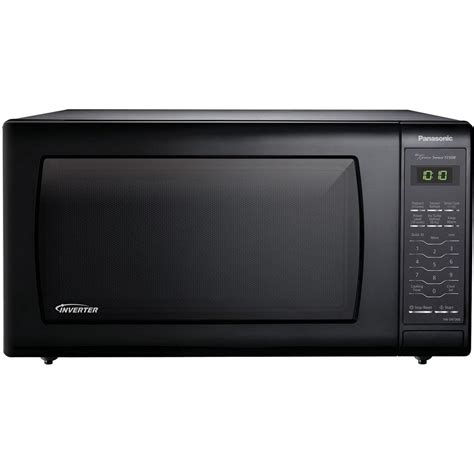 Microwave Panasonic 450 Watt panasonic 1 6 cu ft countertop microwave in black built