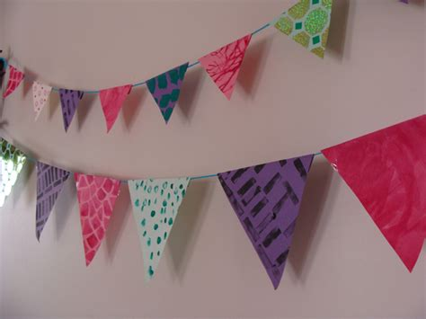How To Make Paper Bunting Banners - paper bunting banners to make with the creative