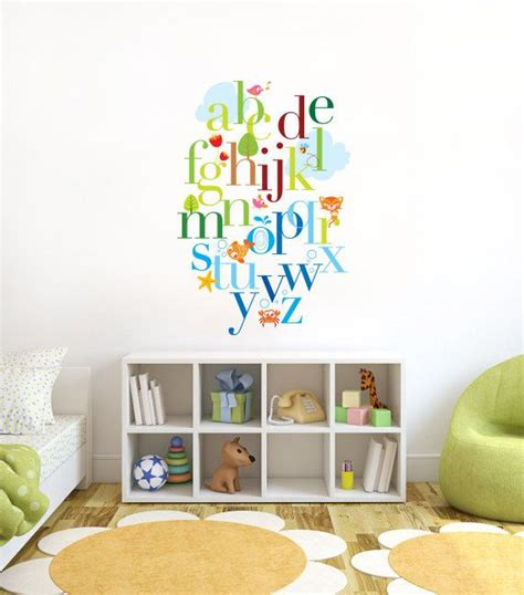 wall stickers for playroom alphabet nursery wall decal wall decal playroom wall de